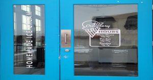 Front door of 402 Creamery Ice cream store